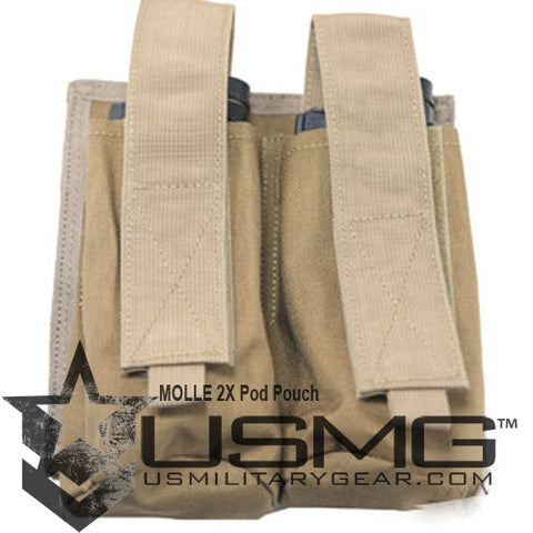 TAN MOLLE  Double Pod Pouch