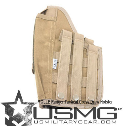 TAN Cross Draw Holster Left Hand Large