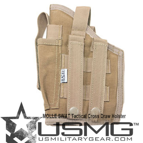 TAN MOLLE  Cross Draw Holster Right Hand Small