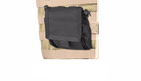BLACK Fold Out Dump Pouch