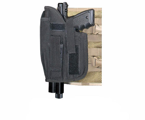 BLACK MOLLE Cross Draw Holster Left Hand Large