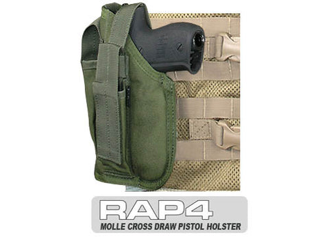 OLIVE DRAB MOLLE Cross Draw Holster Left Hand Small