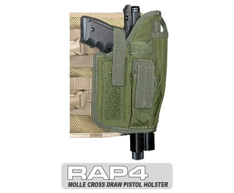 OLIVE DRAB MOLLE Cross Draw Holster Right Hand Large