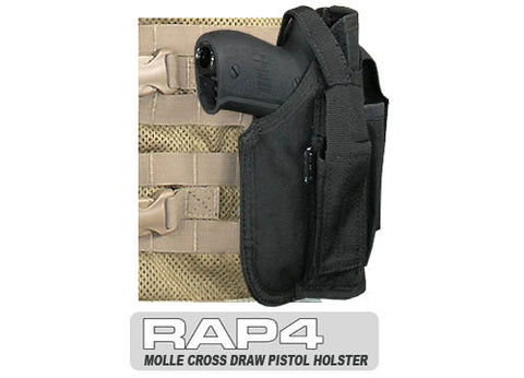 BLACK MOLLE Cross Draw Holster Right Hand Small