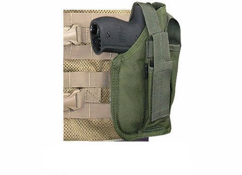 OLIVE DRAB MOLLE Cross Draw Holster Right Hand Small