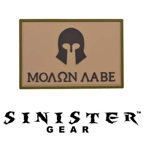 "Sinister Gear ""Molon Labe (Come and Take)"" PVC Patch - Arid"