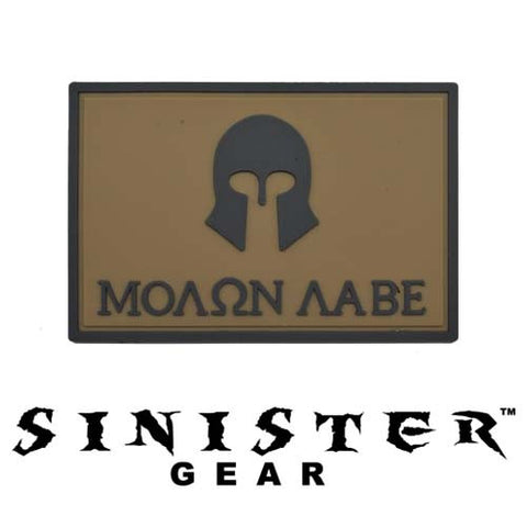 "Sinister Gear ""Molon Labe (Come and Take)"" PVC Patch - Brown"