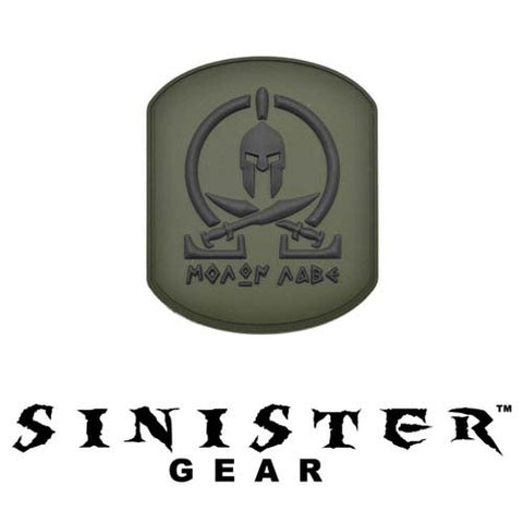 "Sinister Gear ""Molon Labe (Come and Take) Pendant"" PVC Patch - OD"