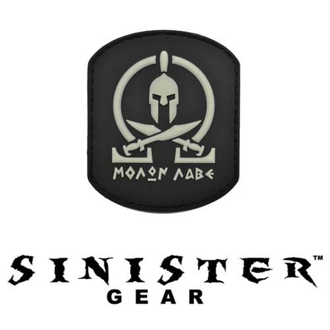 "Sinister Gear ""Molon Labe (Come and Take) Pendant"" PVC Patch - SWAT (Glows in the Dark)"