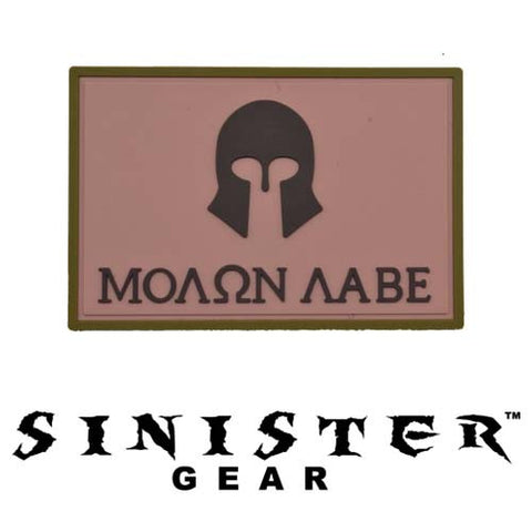 "Sinister Gear ""Molon Labe (Come and Take)"" PVC Patch - Red"