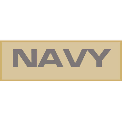 Navy Patch Large (Tan)