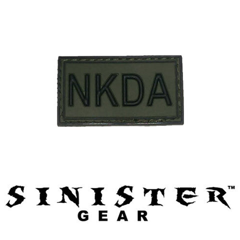 "Sinister Gear ""NKDA"" PVC Patch - Green"
