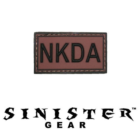 "Sinister Gear ""NKDA"" PVC Patch - Red"
