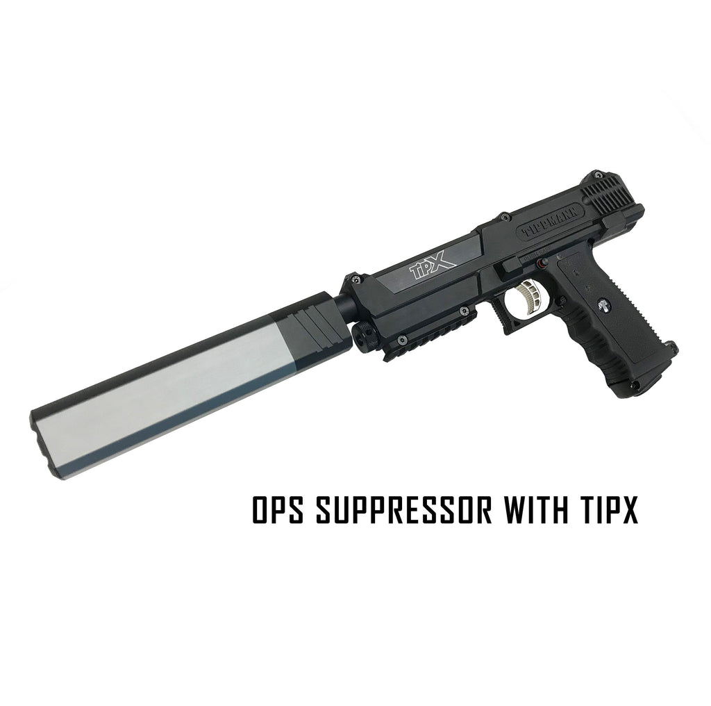 tippmann tipx pistol 10 inches barrel and silencer kit mcs