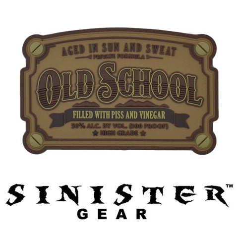 "Sinister Gear ""Old School"" PVC Patch - Brown"