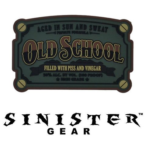"Sinister Gear ""Old School"" PVC Patch - Dark"