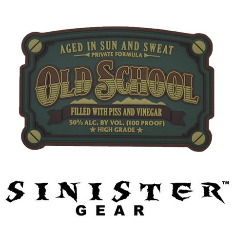 "Sinister Gear ""Old School"" PVC Patch - Light"