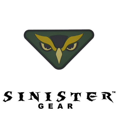"Sinister Gear ""Owl"" PVC Patch - Arid"