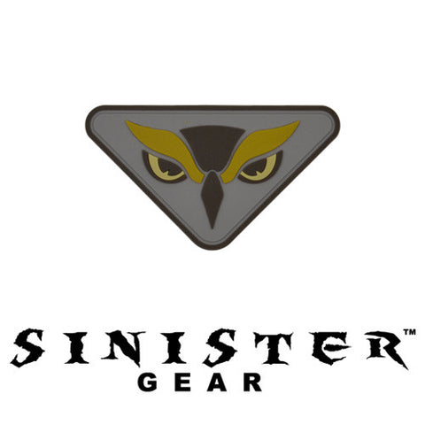 "Sinister Gear ""Owl"" PVC Patch - Grey"