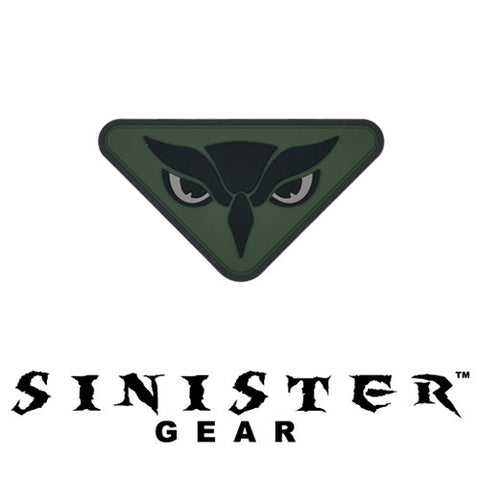 "Sinister Gear ""Owl"" PVC Patch - OD"
