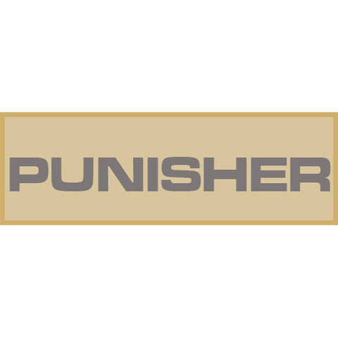 Punisher Patch Large (Tan)