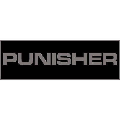 Punisher Patch Large (Black)