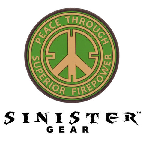 "Sinister Gear ""Peace"" PVC Patch - Green"