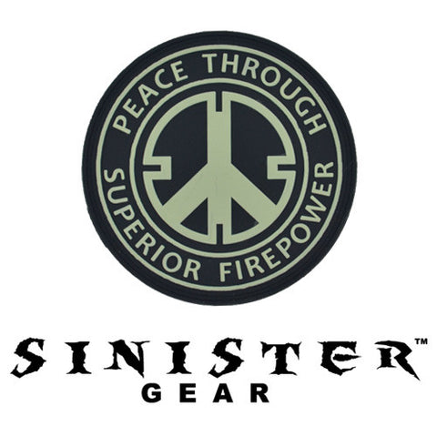 "Sinister Gear ""Peace"" PVC Patch - SWAT (Glows in the Dark)"