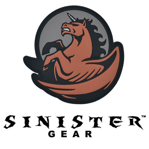 "Sinister Gear ""Pegasus"" PVC Patch - Light Red"