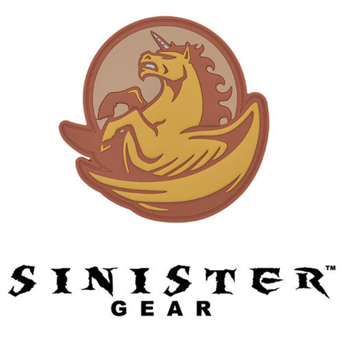 "Sinister Gear ""Pegasus"" PVC Patch - Orange"