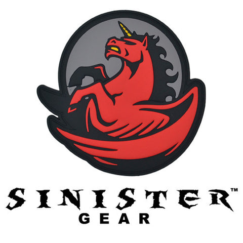 "Sinister Gear ""Pegasus"" PVC Patch - Red"