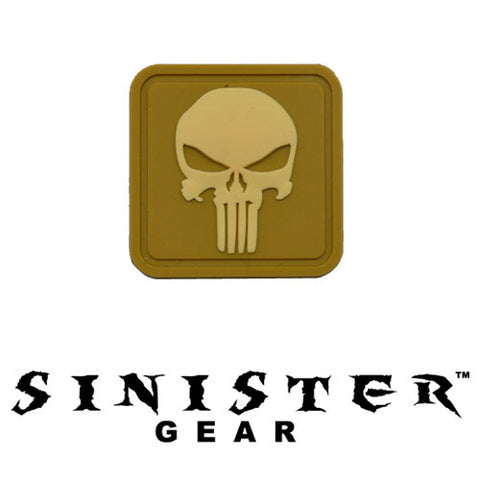 "Sinister Gear ""Punisher Pendant"" PVC Patch - Tan/Desert"