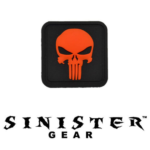 "Sinister Gear ""Punisher Pendant"" PVC Patch - Orange"