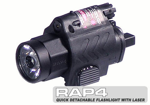 Super Bright Quick Detachable Tactical Flashlight with Laser Combo