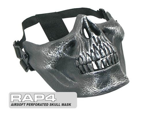Airsoft Tactical Skull Mask (Silver)