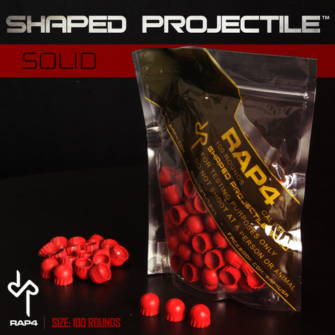 Shaped Projectile (Solid) (100ct) (Red)