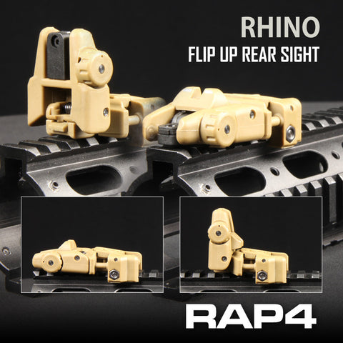 Rhino Flip-Up Rear Sight (Tan)
