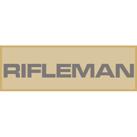 Rifleman Patch Large (Tan)