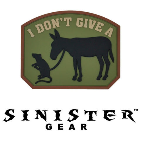 "Sinister Gear ""Rats A**"" PVC Patch - Arid"