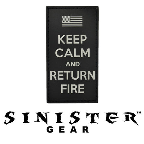 "Sinister Gear ""Return Fire"" PVC Patch - SWAT"