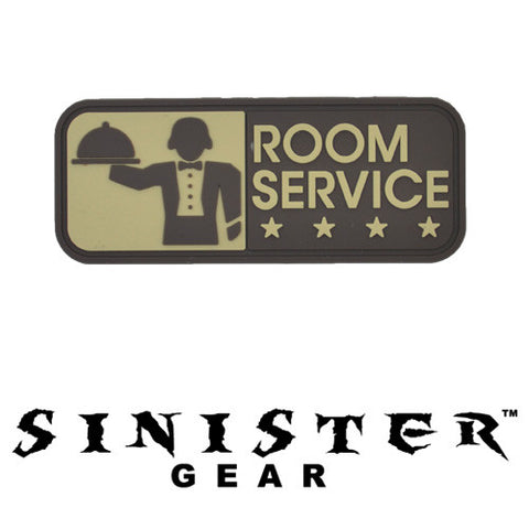 "Sinister Gear ""Room Service"" PVC Patch - ACU"