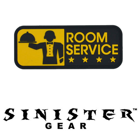 "Sinister Gear ""Room Service"" PVC Patch - Yellow"