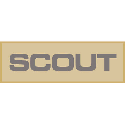 Scout Patch Large (Tan)