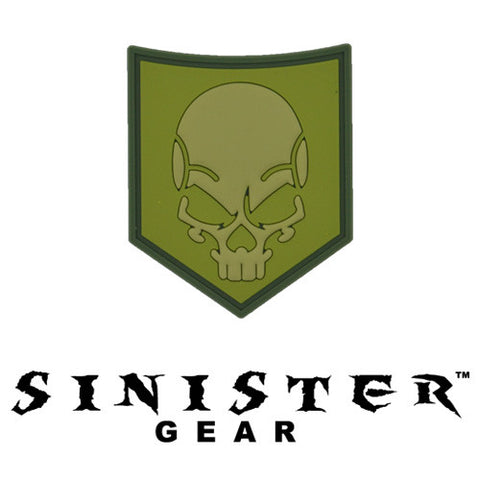 "Sinister Gear ""SOF Skull"" PVC Patch - Green"