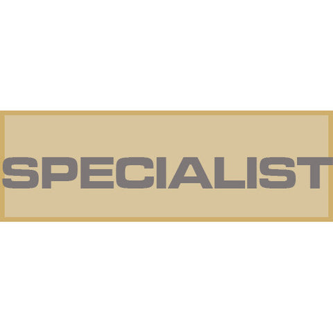 Specialist Patch Small (Tan)