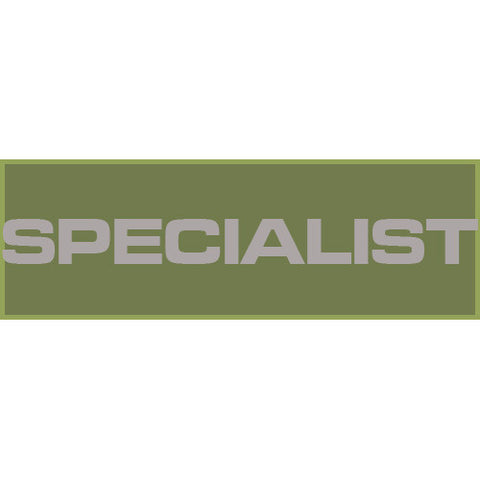 Specialist Patch Large (Olive Drab)