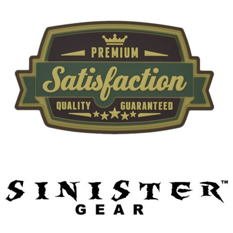 "Sinister Gear ""Satisfaction"" PVC Patch - Green"