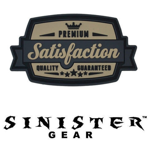 "Sinister Gear ""Satisfaction"" PVC Patch - Light"
