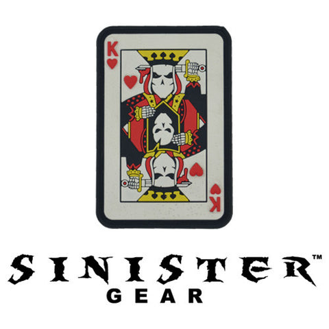 "Sinister Gear ""Suicide King"" PVC Patch - Color"