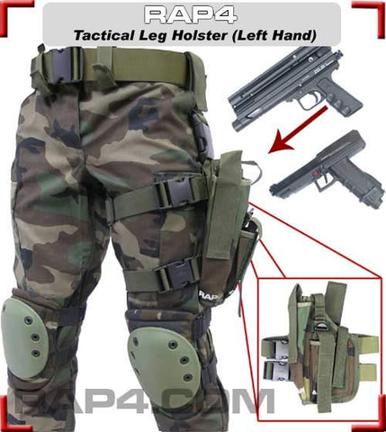 BLACK Tactical Leg Holster Left Hand Large
